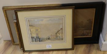 19th century English School, watercolour, Old Halfpenny Gate Stonehouse 1876 and four other