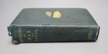 Lyell (Sir Charles FRS), The Geological Evidences of the Antiquity of Man, London, John Murray,