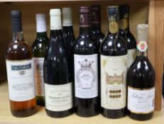 Ten bottles of assorted wines including two Pommard Le Cru etc