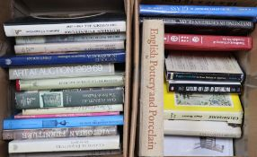 A quantity of mixed reference books relating to art, furniture, glass etc including Gillows