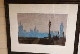Rolf Harris, limited edition print, 'Misty Blue', signed and numbered 1/5, 40 x 58cm