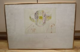 Salvador Dali (1904-1989), lithograph with etching, The Cycles of Life, Reflections, c.1979,