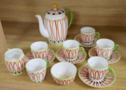 Allan Walton for Foley China, a part 'Mornington' pattern coffee service (some faults)Note: In