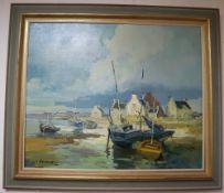 Louis Fournet (1902-1975), oil on canvas, 'Lechiagat', signed, 54 x 65cm
