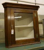 A mahogany hanging corner cabinet, width 68cm, depth 40cm, height 70cm