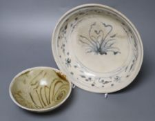 A Chinese Tang Dynasty Changsha shipwreck bowl and a Vietnamese Hoi An Hoard underglaze blue and