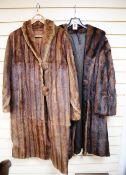 Two musquash fur coats