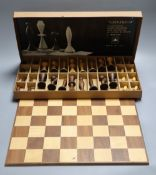 The ANRI Space-age chess set, 1969, in original box with leaflet and chess board, kings 11cm