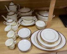 A Minton St James pattern bone china dinner and tea service for a six place setting (45)CONDITION: