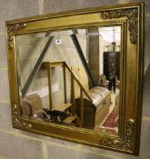 A rectangular gilt frame wall mirror, width 78cm, height 70cm