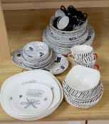 A collection of Ridgway, Midwinter and other tablewares, including Ridgway 'Homemaker' (36