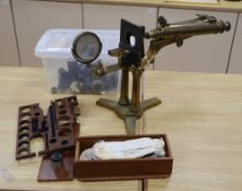 A mid-19th century Smith & Beck binocular microscope, 16 Coleman St, London, with accessories,