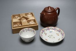 A Japanese 'Ko Satsuma Chawan', 18th century, a Newhall tea bowl and saucer and a Yixing style