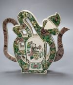 """A Chinese enamelled biscuit """"Fu"""" wine pot, Kangxi mark, late 19th century, height 19cmCONDITION:"""