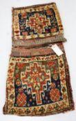 An antique caucasian saddle bag
