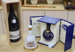 Isle of Skye 21 Years Old Blended Scotch Whisky in Wade decanter, cased and two other items, a