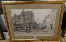 English School, pencil and wash, View of Salisbury Street, 24.5 x 34.5cm