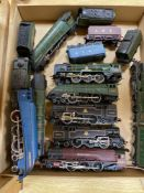 Hornby Dublo locomotives, including Barnstaple, Bristol Castle and Cardiff Castle, one tender