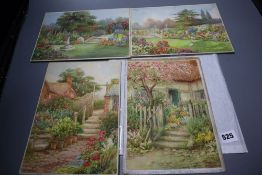 William F. Ashburner (act. 1900-1932), four small unframed watercolours, comprising a pair of