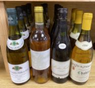 Mixed white wines, including Bouchard Pere et Fils Macon-Lugny Saint-Pierre 1989 (9 bottles),