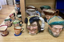 Twelve Royal Doulton character mugs and a Toby jug , Winston ChurchillCONDITION: Good condition