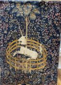 A 20th century wall tapestry by JP Paris, 'The Unicorn in Captivity'CONDITION: Good condition, label