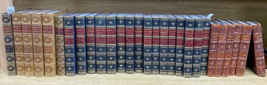 A collection of small bindings, including Macaulay's England, Essays, etc., Thackeray, Froude and