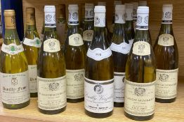Mixed white wines, including Domaine des Chailloux Pouilly-Fume, 1985, Jean-Claude Chatelain (5