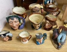 Ten mixed Royal Doulton character jugs and a figure 'Thanksgiving', HN2446CONDITION: All pieces
