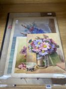 Edith Alice Andrews (1873-1958), a group of six watercolours of flowers, comprising Anemones,