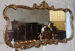 A gilt frame wall mirror, width 88cm