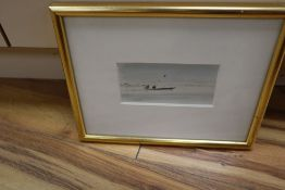 """Sir Hugh Casson (1910-1999), watercolour, """"The Ferry Boat Agra"""", not signed but inscribed verso, 6 x"""