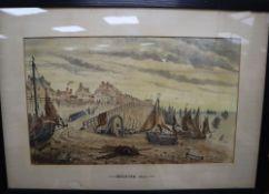 W T Quartermain, watercolour, 'Brighton 1830', inscribed, initialled l.l, 30 x 48cmCONDITION: