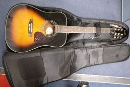 An Epiphone acoustic guitar, model DR-220SVS, in soft case