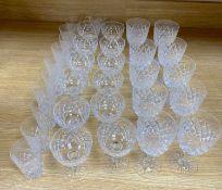 A suite of Webb cut glass (33)