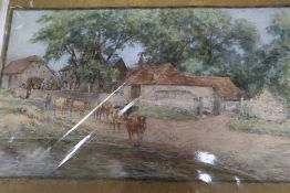 William Rainey (1852-1936), 'Milton Street, near Alfriston', signed and six other unframed