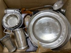 A quantity of Continental pewter tablewareCONDITION: Structurally good; all items cleaned and