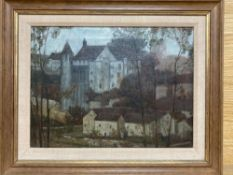 Frederick Marriott (1860-1941), oil on canvas, View of a chateau, inscribed verso, 22 x