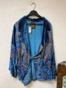 A Liberty & Co ladies' embroidered silk and lurex brocade jacket, circa 1920, with original