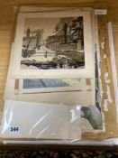 George W. Ball (20th century), a collection of 11 unframed watercolours and ink and watercolour