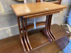 A nest of three G plan teak occasional tables, width 56cm