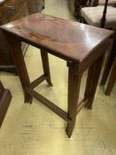 A nest of three Edwardian inlaid mahogany occasional tables, width 54cmCONDITION: A little dirty and
