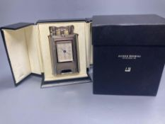 A Dunhill table lighter - Charlston, with timepiece