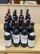Mixed red wines, including Saint-Estephe Chateau Vieux Coutelin 2000 (12 bottles), M. Chapoutier