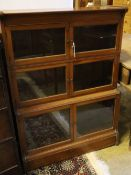 A three-tier Globe Wernicke style three section bookcase, width 88cm depth 30cm height 118cm
