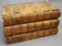 Hughes, John and Kennett, White (editors) - A Complete History of England, 3 vols, folio, old