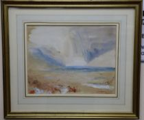 Hercules Brabazon Brabazon (1821-1906), watercolour, An interpretation of J M W Turner,