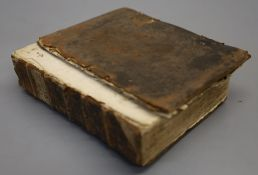 Bible in English - The Bible, 2 works in 1 vol, qto, contemporary calf, very worn and scuffed,