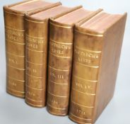 Plutarch - Plutarchs Lives, 4 vols (of 5), 8vo, rebound brown calf with gilt lettering by Brian
