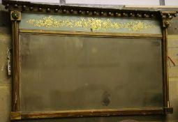 A Regency overmantel mirror, 92 x 54cm